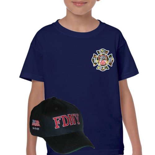 ef6b7278253 KIDS FDNY SUPPORT OUR TROOPS T-SHIRT   HAT COMBO – FDNY Shop