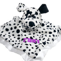 Dalmatian Baby Blanket Pink