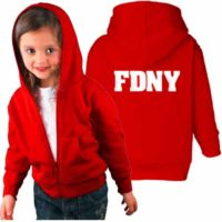 FDNY Hoodie - Toddler Red Duo