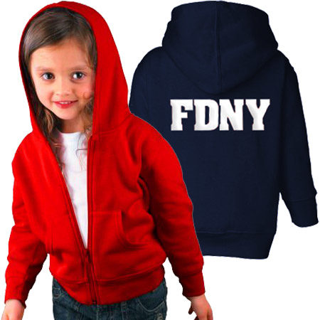 FDNY Hoodie - Toddler Red & Navy