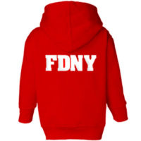 FDNY Hoodie - Toddler Red back