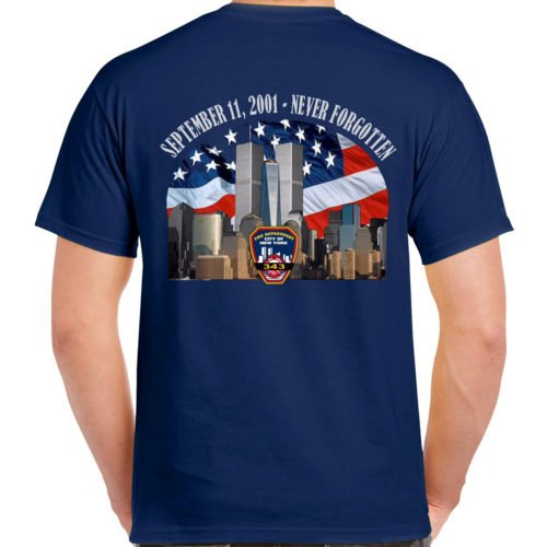 9-11 never forget tee TL 138 17th Ed bk