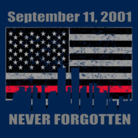9-11 never forget tee TL 138 17th Ed frnt logo