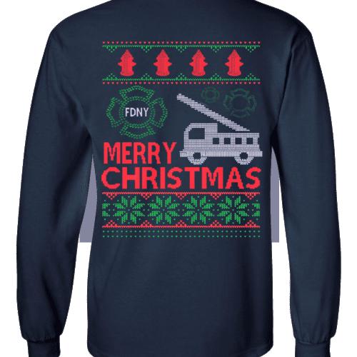Christma Sweater Long Sleeve T-shirt 2018 bk