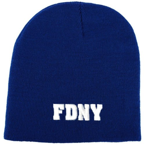 Embroidered FDNY Knit Beanie - Blue