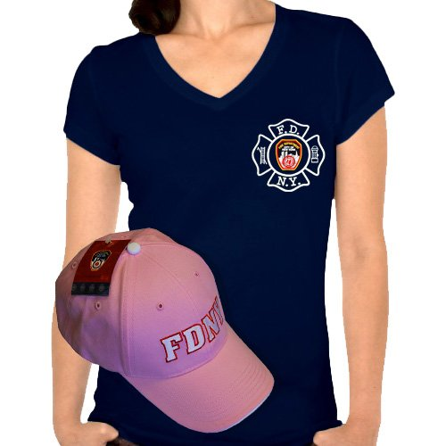 238ded639f5 LADIES FDNY V-NECK T-SHIRT   HAT COMBO – 3 COLORS