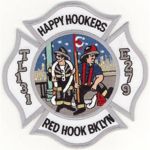 Eng 279 Lad 131 Red Hook Happy Hookers Patch