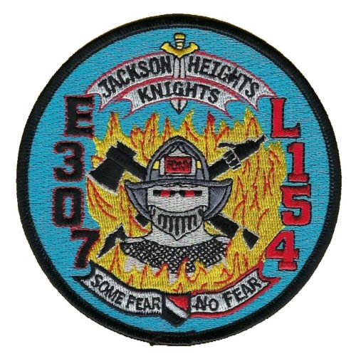 E 307 L 154 Jackson Heights Knights Patch