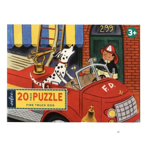 Firetruck Dog Puzzle 20 pc